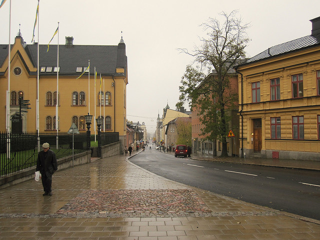 The old center of town  of Linköping